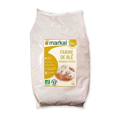 MARKAL Farine de blé intégrale T150 1Kg Bio -