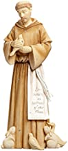 Enesco Foundations by Karen Hahn St. Francis Figurine, 9.17-Inch