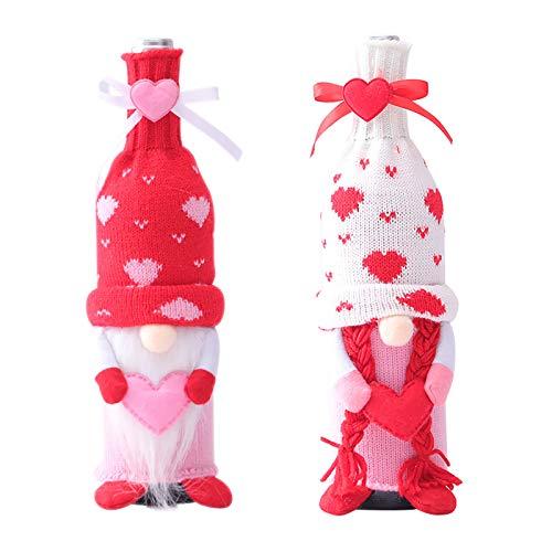 Funda para botella de vino, para el día de San Valentín, 2 unidades