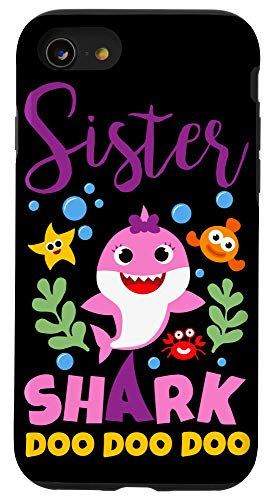 iPhone SE (2020) / 7 / 8 Sister Shark Gift Cute Baby Shark Family Matching Outfits Case