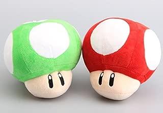 Super Mario Bros Mushroom 6 Inch Toddler Stuffed Plush Kids Toys 2 Pcs/set