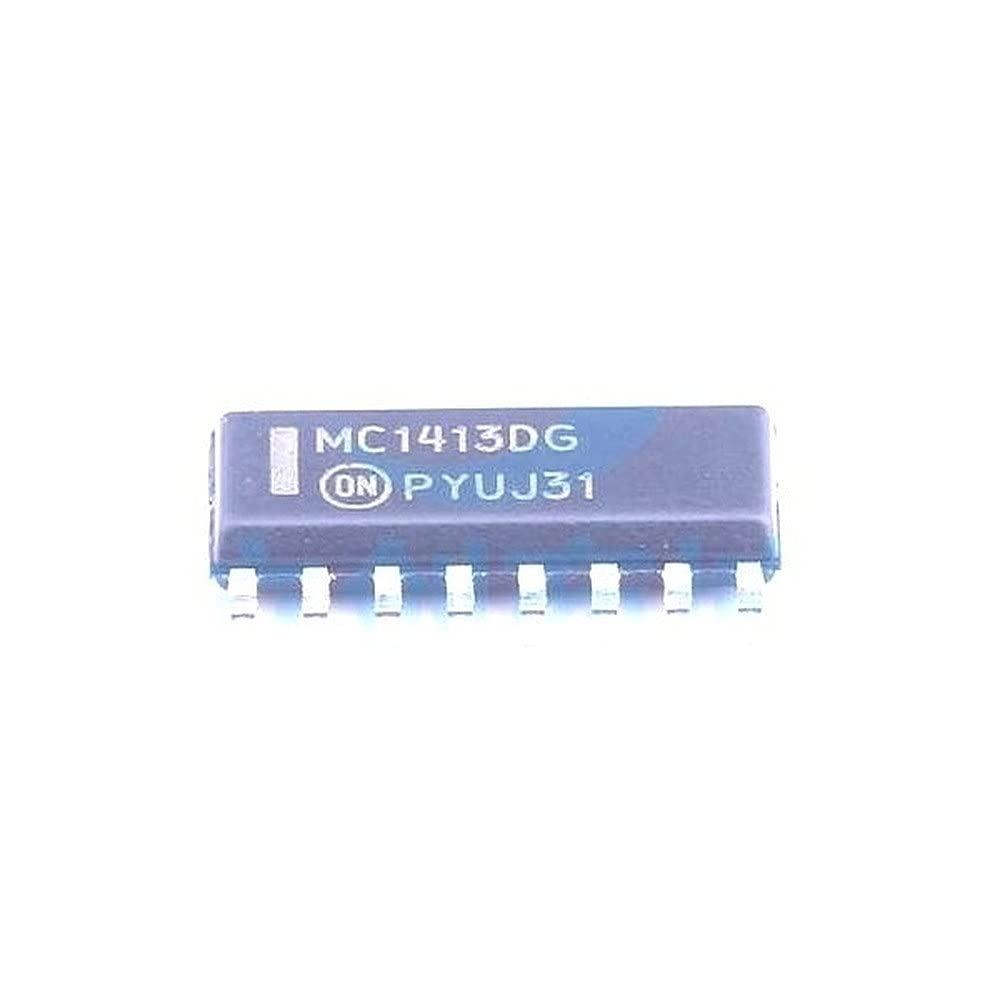 5 Pcs Darlington 2021 model Transistor MC1413DR2G Array safety SOIC-16_150mil MC14