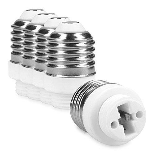kwmobile 5x casquillo de lámpara adaptador conversor montura E27 a casquillo G9 para lámparas LED, halógena y de ahorro energético