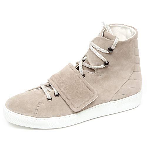 Moncler F1216 Sneaker Uomo beige Scarpe Suede Shoe Man [40]