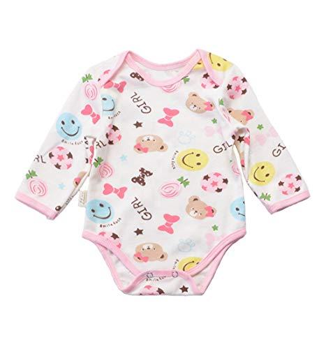 ALLAIBB Combinaison Manches Longues bébé Unisexe bébé Coton Cartoon Triangle Romper (Color : Smiley Football, Size : 66)