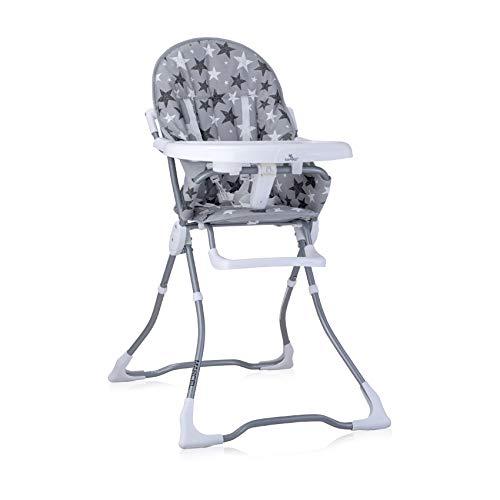Lorelli, chaise haute Marcel, pliable, creux de tasse, tissu lavable, coloris:étoiles grises