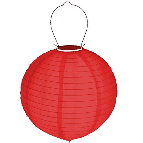Solar LED Lampion Hänger 30cm Solarleuchte Gartenlampion Beleuchtung Außen Party (Rot)