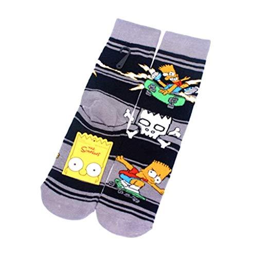 Kustom Factory Socken Homer und Bart Simpson 2 Paar Socken