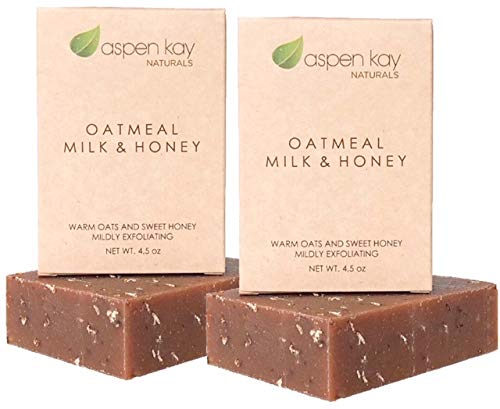 Oatmeal Soap Bar. With Organic Raw Honey & Goat's Milk