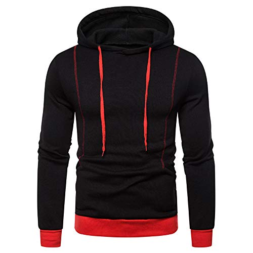 Mens Casual Pullover Fleece Hoodies Cool Gym Jumpers Solid Sweater M-3XL