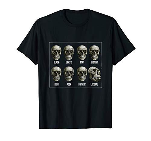 Schwarz Weiß Mann Frau Reiche Arme Patriot Liberal T-Shirt