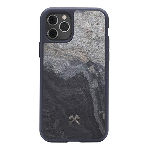 Woodcessories - Hülle kompatibel mit iPhone 11 Pro Max aus hochwertigem Stein, EcoBump Stone (Granit Grau)