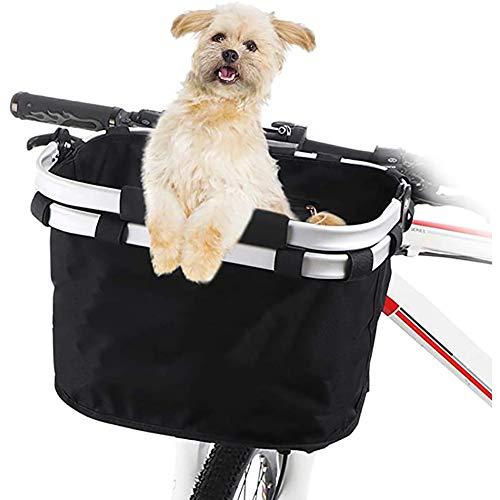 Zzzy Abnehmbarer Canvas-Fahrradkorb Für Das Laden Von Katzen Und Hunden, Reisen, Einkaufen, Picknick - Maximale Ladekapazität: 5 Kg,Single Hand