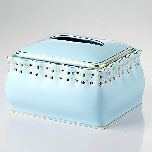El tejido de cerámica cubierta de la caja con Lotus canto decorativo, dorado hueco exquisito Servilletero facial, papel exclusivo de lujo dispensador, tejido titular único del estreno de regalo de bod