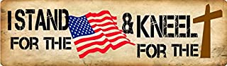 Bumper Planet - Car Magnet - I Stand for The Flag and Kneel for The Cross - 3 x 10 inch - Professionally Made in USA
