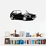 Wandtattoo Wohnzimmer Vintage Car VW Golf Classic Wall Art Decal Sticker Home Decoration Art Mural Room Sticker for living room