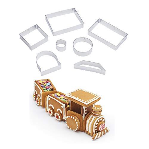 Kitchen Craft SDICCTRAIN Sweetly Does It 3D-Ausstechformen-Set, metall, 7 Pieces