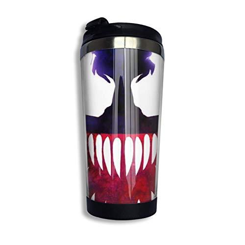 Taza de café de viaje con tapa abatible, vaso de acero inoxidable con flores, botella de agua, taza de cumpleaños del día de la madre, ojo de demonio