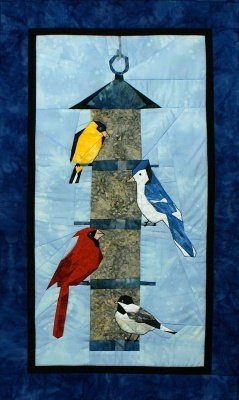 Picture Piecing for The Birds - New Form of Foundation Paper Piecing Pattern - 17
