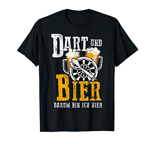 Dart Shirt Lustig Bier Herren Geschenk für Dartspieler T-Shirt