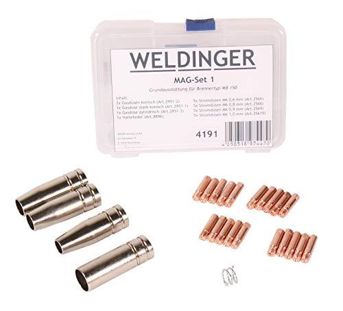 WELDINGER - Zubehörset MAGSet 1 für MAG Schweißgarnitur Typ MB150 Grundausstattung 0,6-1mm