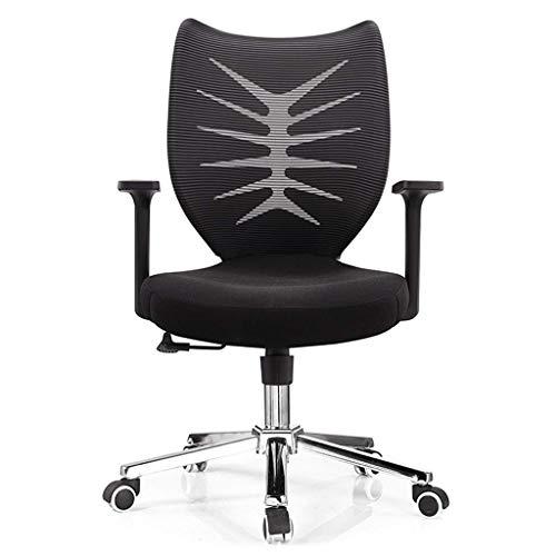 NBVCX Möbel Dekoration Computerstuhl Moderner Stoff Bürostuhl mit niedriger Rückenlehne Bürostuhl mit mittlerer Rückenlehne und Einstellbarer Höhe für den Empfang Esszimmer Konferenzraum Schwarz