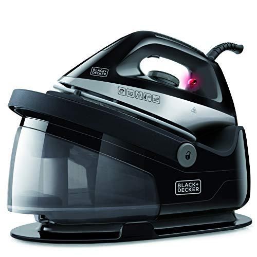 BLACK+DECKER BXSS2200E - Sistema stirante a vapore, carica continua, getto di vapore 120g/min. piastra in ceramica, pronto in un minuto, filtro antica