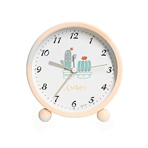 XT Kleine wekker Eenvoudige wekker Student nachtkastmodus Silent kleine klok Kinderen wekker (Color : A)