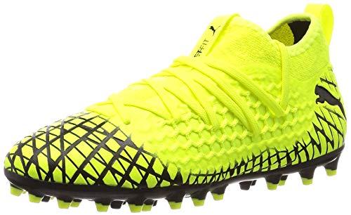 PUMA Future 4.3 Netfit MG, Scarpe da Calcio, Yellow Alert Black, Taglia 1.5 UK (35.5 EU)