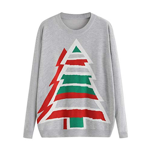 Great Price! Women Pullover Sweatshirt Christmas Tree Crew Neck Christmas Sweatshirt Cute Loose Long...