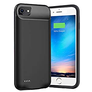 Battery Case For Iphone 876s6se 20202nd Generation6000mah Portable Charger Case Rechargeable Battery Pack Charging Case Compatible With Iphone Se 20202nd Generation876s6 47 Inch Black