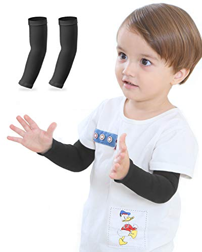 Newbyinn Arm Sleeves for Kids, Toddlers 1 Pair/ 3 Pairs, Warmer Gloves UPF 50 UV Sun Protection Sleeves to Cover Arms
