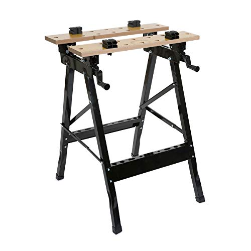 Wolf Craftsman's Folding Workbench with Hard Wearing MDF Top...