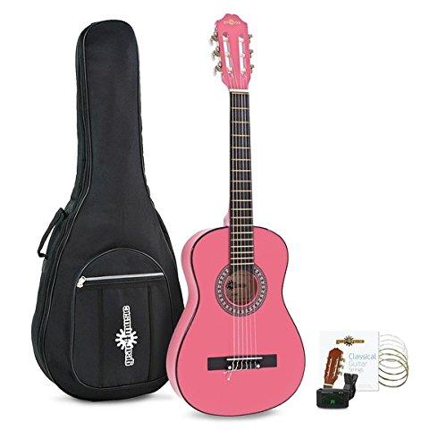 Paquete de Guitarra Espanola Junior de 1/2 de Gear4music Pink