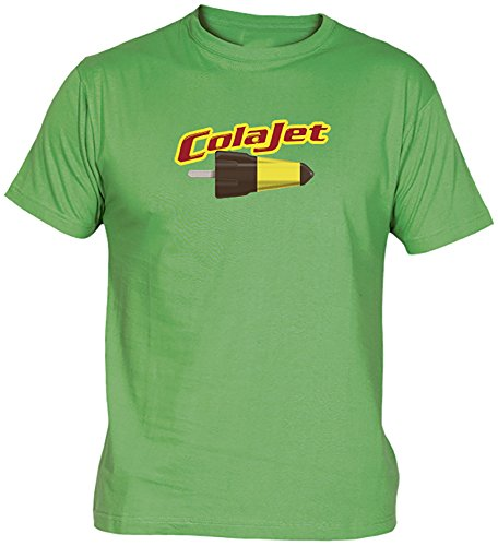 Camisetas EGB Camiseta ColaJet Adulto/niño ochenteras 80´s Retro (XL, Verde)