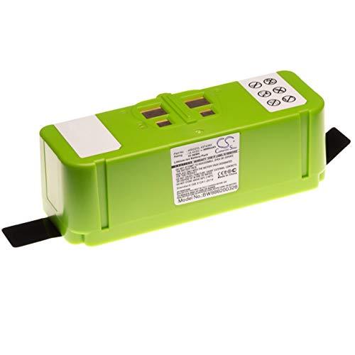 vhbw Li-Ion batterie 4000mAh (14.4V) compatible avec iRobot Roomba 614, 615, 640, 652, 665, 670, 671, 675, 677, 680, 681, 685 robot aspirateur