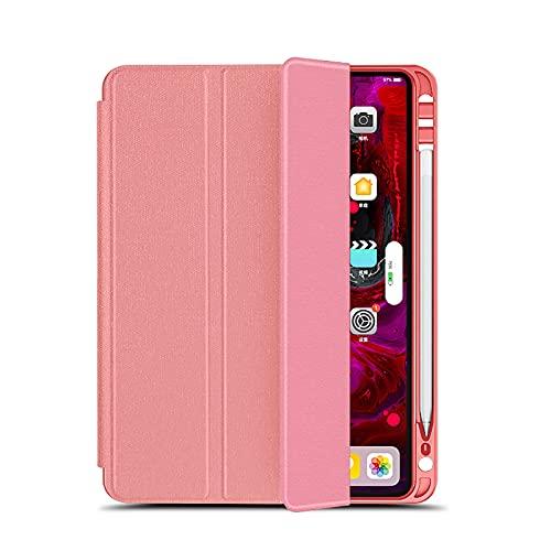 WYZDQ Funda para iPad Pro De 11 Y 12,9 Pulgadas Funda 2021 con Portalápices, Reposo/Activación Automático, Funda De Soporte Triple A Prueba De Golpes Funda Protectora Ligera,Rosado,11 Inch