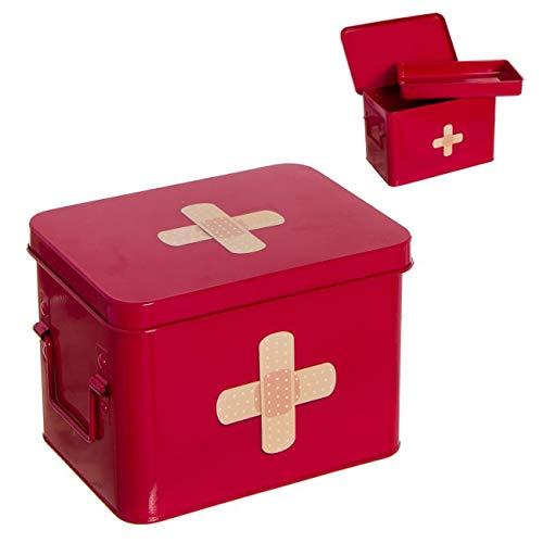 Vidal Regalos Trousse à pharmacie en métal avec croix rouge 22 cm
