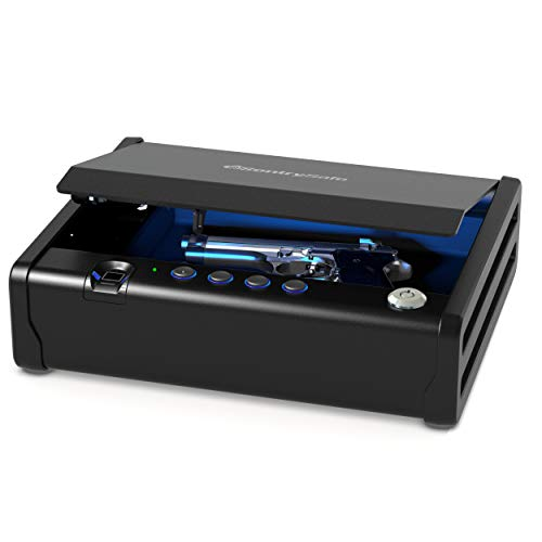 SentrySafe QAP1BLX Biometric Gun Safe with Interior Light, 1 Handgun Capacity