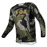 Fox Camisetas de bicicleta de montaña, Ropa deportiva de motocross, Motocicleta Equipo de bicicleta de locomotora de bicicleta Hpit Fox Camiseta de Cross Country Mountain Hombre Deportes y fitness, XL