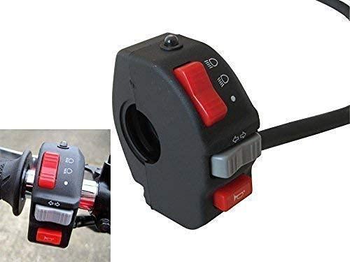 Motocicleta Interruptor Montaje Aparamenta Racimo para Faro, Indicador, Amplificador para 22mm 7/8' Manillares