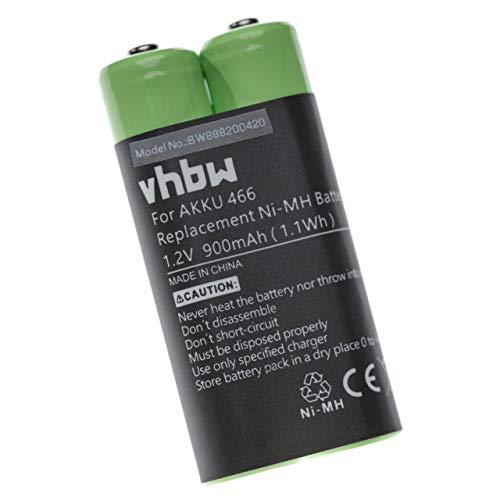 vhbw Akku passend für Grundig Digta 420, 422 Diktiergerät (900mAh, 1.2V, NiMH)