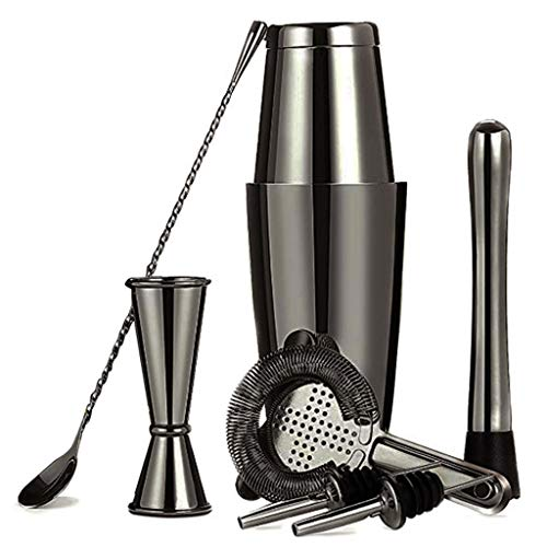 JJZXD Cocktail Shaker 28 OZ 304 Stainless Steel Copper Shaker Set for Bartender Kit of 8 Pieces (Size : Style 5)