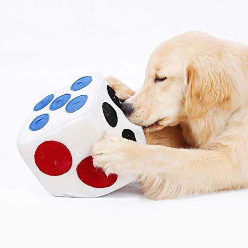 UpPaws 犬 おもちゃ、ノーズワーク ボール、しつけ教育サイコロ、 早食い対策、 運動不足・ストレス解消、犬 知育玩具、 集中力向上 ペット用品 Pet Snuffle Toy Cube, Interactive Training, Nose-Work