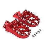 Reposapiés reposapiés Pedales de Aluminio CNC para Hon.da Yamaha CR 125 CR125 CR250 95-99 CR500 95-05 YZ 125 YZ125 YZ250 WR400 97-98 Moto Dirt Bike Rojo