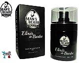 Man's Beard - Elixir de Barbe Premium Soie Hydratante - Fabrication Franaise - adoucit et protge les barbes - serum/huile barbe pour homme - Senteur Musc/Homme - Contenance : 30 ml