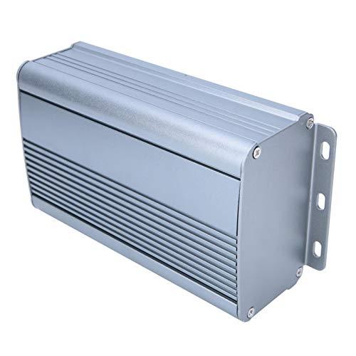 Caja de proyectos electrónicos Caja de enfriamiento de aluminio Sensación cómoda de las manos Resistente al desgaste Gris esmerilado Cepillado para cableado de placa de circuito impreso