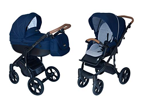 Review ROAN Bass Soft Stroller 2-in-1 with Bassinet for Baby, Toddler's Five Point Safety Reversib...