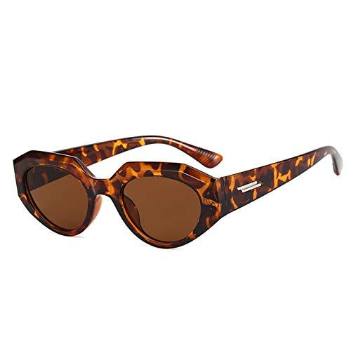 Bomoka 2 gafas de sol de moda, gafas de sol irregulares de ojo de gato, gafas unisex, gafas de sol de moda, personalidad, estuche de regalo (tamaño 07)