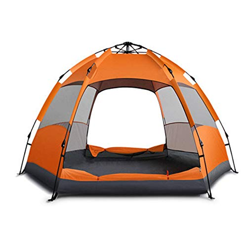 RYDZCLH Pop-up Kiosk, Automatic Portable Rainproof and Sun-proof Pop-up Tent, Easy to Use, Suitable for Travel, Camping, Other Outdoor Activities,Orange,3_4 people
